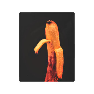 Half Peeled Banana Still Life Metal Print