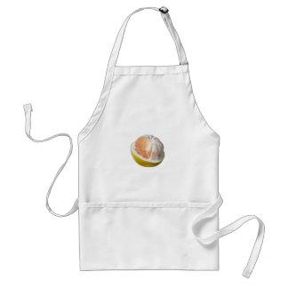 Half peeled pomelo adult apron