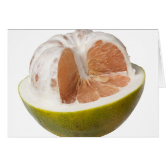 Half peeled pomelo card