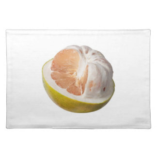 Half peeled pomelo cloth placemat