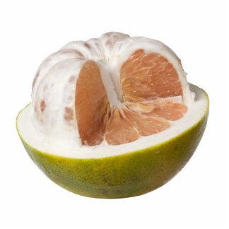 Half peeled pomelo photo cutout