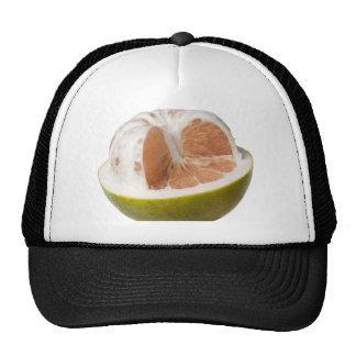 Half peeled pomelo trucker hat