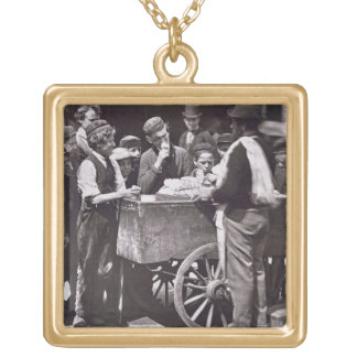 Half Penny Ices, from 'Street Life in London', 187 Gold Plated Necklace