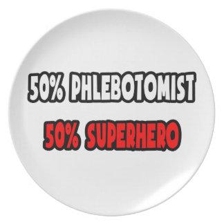 Half Phlebotomist ... Half Superhero Plate