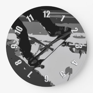 Half pipe Skateboarding Large Clock