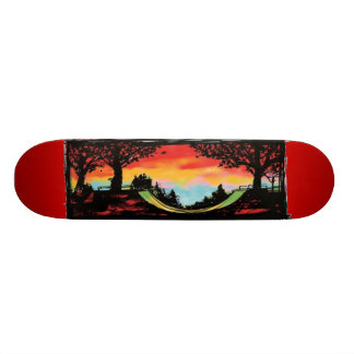 Half Pipe & Sunset Skateboard