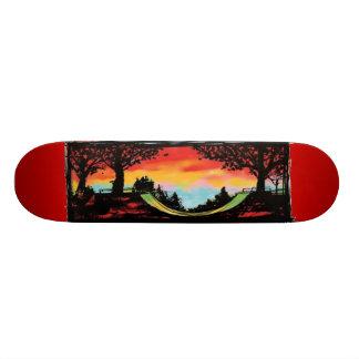 Half Pipe & Sunset Skateboard