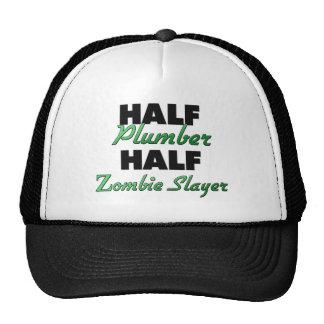 Half Plumber Half Zombie Slayer Hat