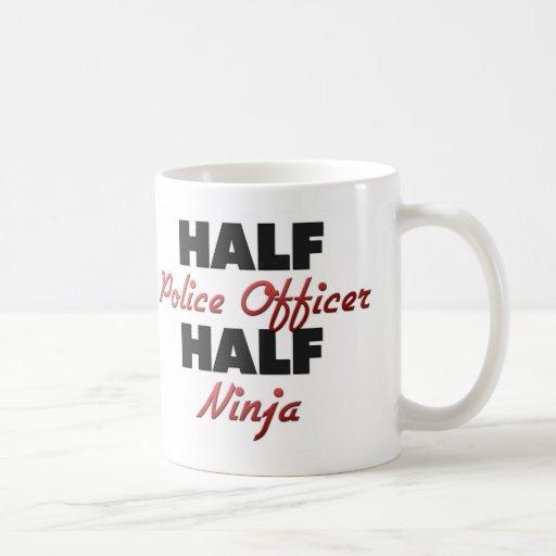 Half Police Officer Half Ninja Classic White Coffee Mug