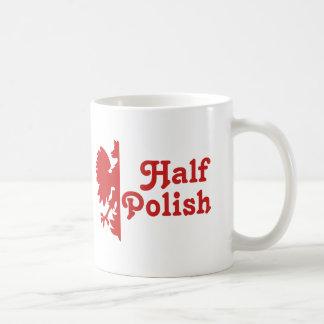 Half Polish Classic White Coffee Mug