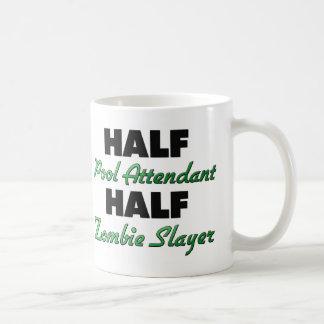 Half Pool Attendant Half Zombie Slayer Classic White Coffee Mug