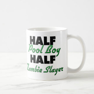 Half Pool Boy Half Zombie Slayer Classic White Coffee Mug
