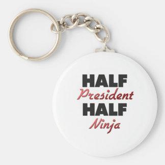 Half President Half Ninja Keychain