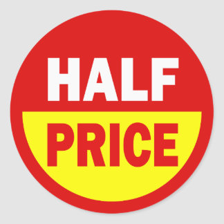Half Price Retail Stickers