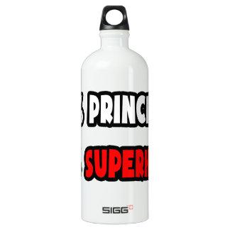 Half Principal ... Half Superhero Aluminum Water Bottle