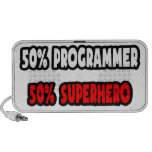 Half Programmer ... Half Superhero Notebook Speaker