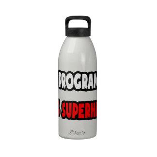 Half Programmer ... Half Superhero Drinking Bottles