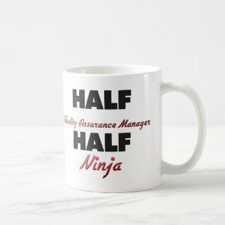 Half Quality Assurance Manager Half Ninja Coffee Mug