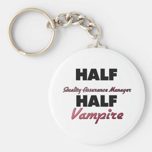 Half Quality Assurance Manager Half Vampire Keychain