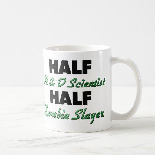 Half R & D Scientist Half Zombie Slayer Classic White Coffee Mug
