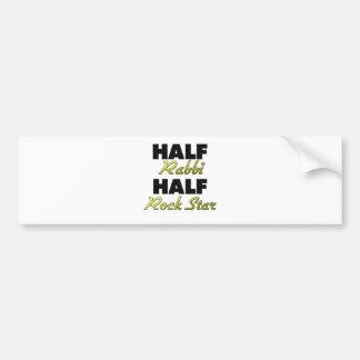 Half Rabbi Half Rock Star Car Bumper Sticker