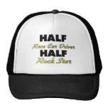 Half Race Car Driver Half Rock Star Trucker Hats