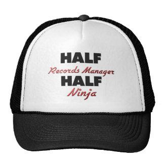 Half Records Manager Half Ninja Trucker Hats
