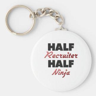Half Recruiter Half Ninja Basic Round Button Keychain