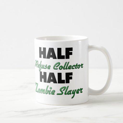 Half Refuse Collector Half Zombie Slayer Classic White Coffee Mug