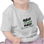 Half Rigger Half Zombie Slayer T-shirts