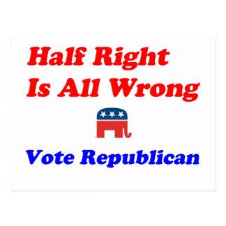 Half Right #1 Postcard