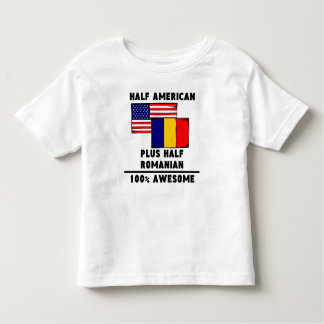 Half Romanian 100% Awesome Toddler T-shirt