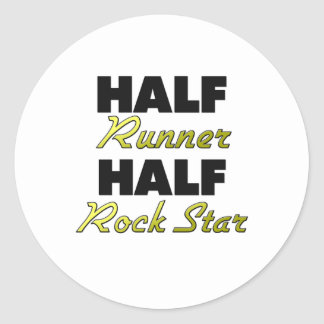 Half Runner Half Rock Star Stickers