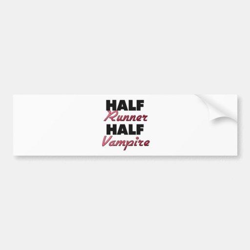 Half Runner Half Vampire Car Bumper Sticker