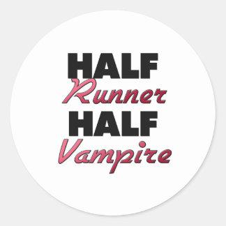 Half Runner Half Vampire Round Stickers