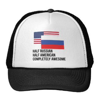 Half Russian Completely Awesome Trucker Hat