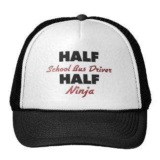 Half School Bus Driver Half Ninja Trucker Hat