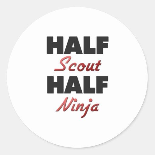 Half Scout Half Ninja Classic Round Sticker