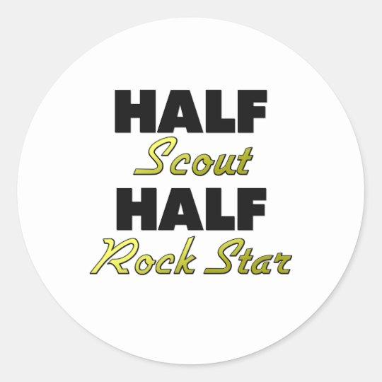 Half Scout Half Rock Star Classic Round Sticker