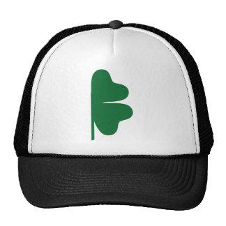 Half shamrock trucker hat