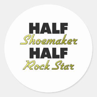 Half Shoemaker Half Rock Star Classic Round Sticker