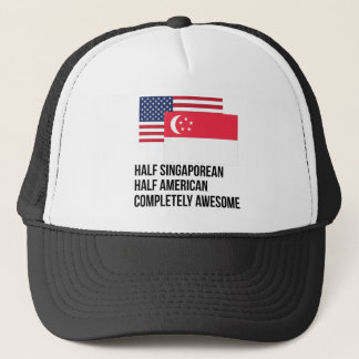 Half Singaporean Completely Awesome Trucker Hat