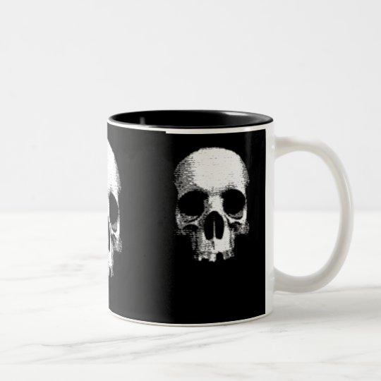 half skull Two-Tone coffee mug