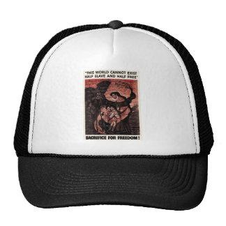 Half Slave Half Free Sacrifice For Freedom Trucker Hat
