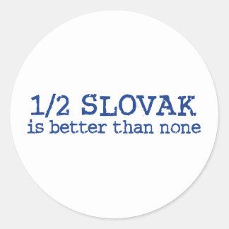 Half Slovak Classic Round Sticker