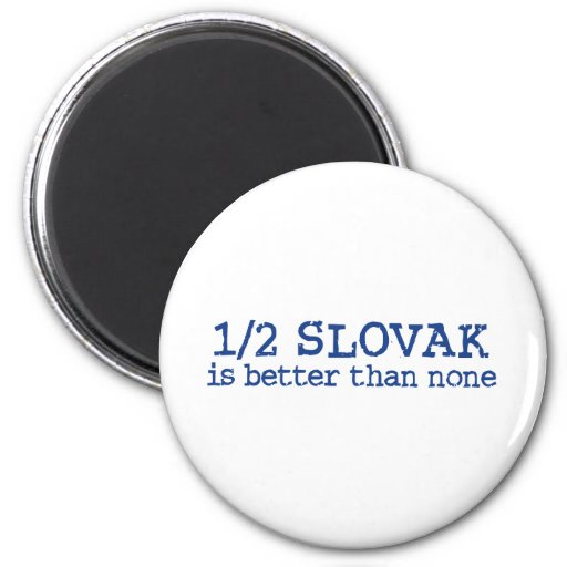 Half Slovak Refrigerator Magnets