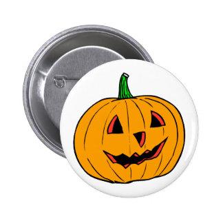Half smiling pumpkin jack o lantern pin