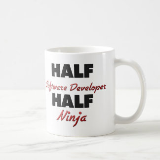 Half Software Developer Half Ninja Coffee Mug