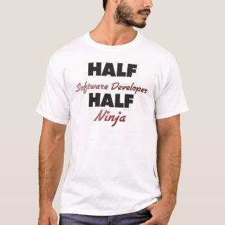 Half Software Developer Half Ninja T-Shirt