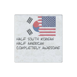 Half South Korean Completely Awesome Stone Magnet